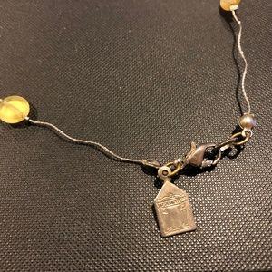 Vintage Jewelry - 925~Italian Murano glass bead necklace